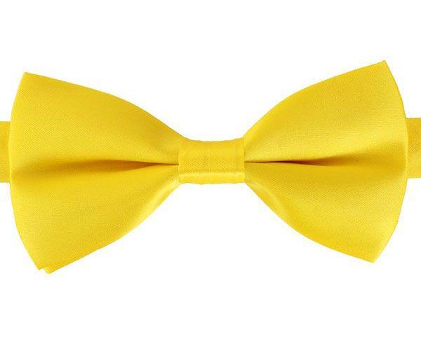 Bow luxury satin yellow