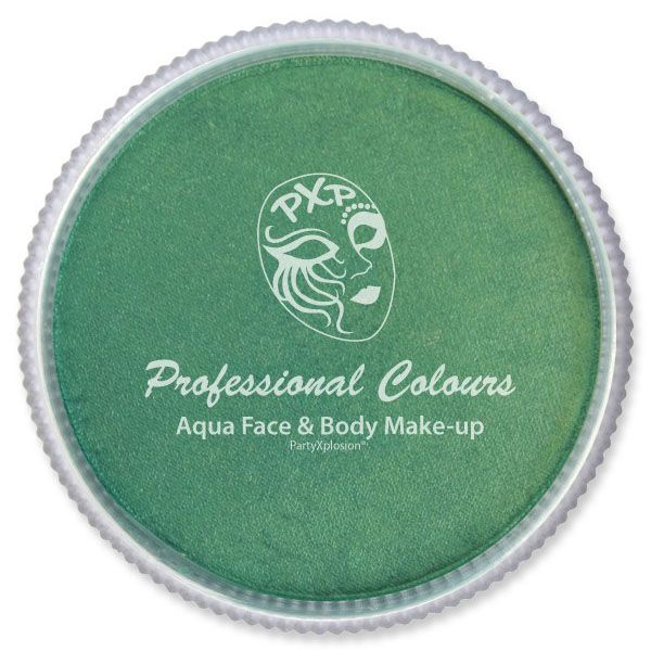 PXP metallic green facepaint PartyXplosion