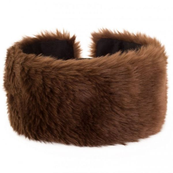 Headband brown plush