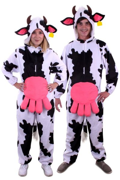 Animal costume Cow with large cow diapers