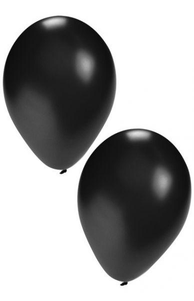 Black helium balloons