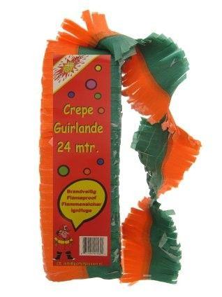 Crepe Garland fireproof Orange green