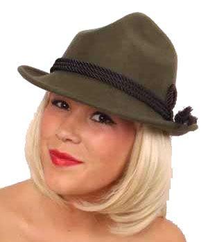 Oktoberfest Tyrolean hunter's hat wool felt green