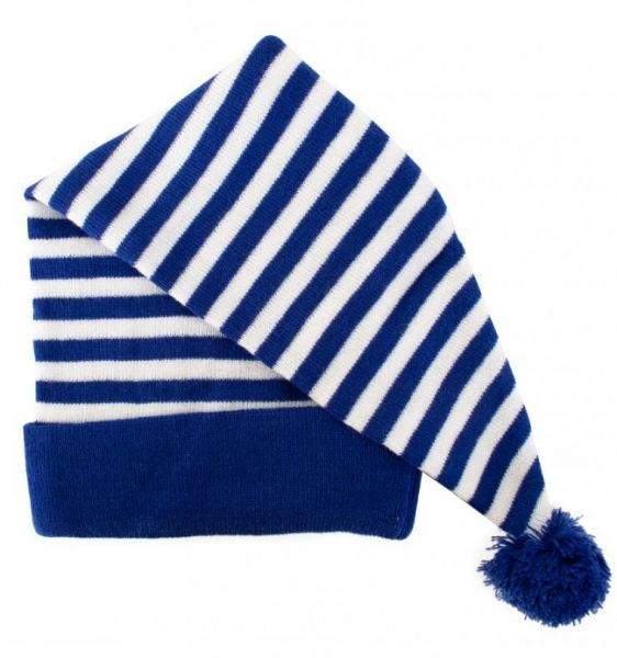 Sleeping cap blue and white striped