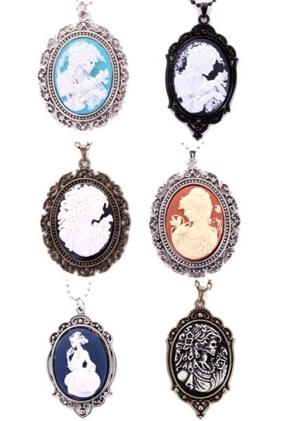 6 Necklaces cameo