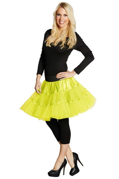 Petticoat fluor yellow ladies
