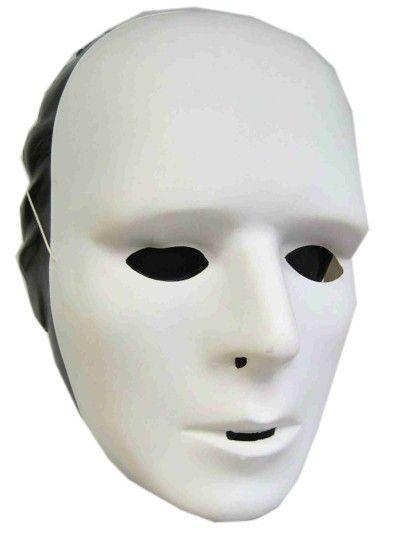 Make-up mask white plastic