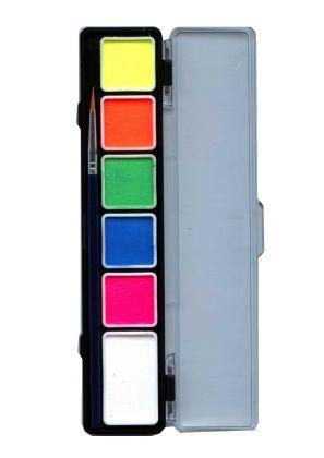 Facepaint Special FX paint pallet 6 neon colors PartyXplosion