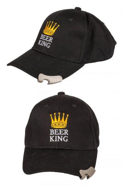 Baseball cap with bottle opener Beer King