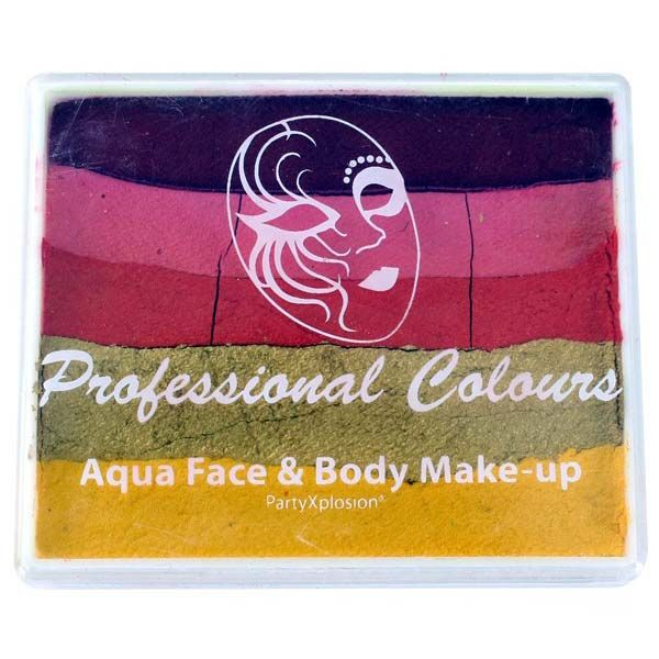 Aqua face & body paint Red Pink Golden Orange Metallic Gold Yellow