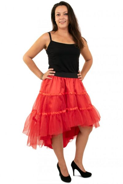 Red petticoat sloping