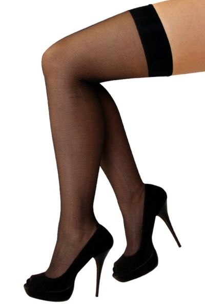 Stay-up stockings black