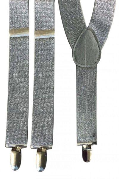 Suspenders lurex silver
