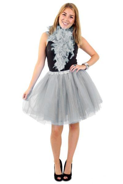 Tulle rock & roll skirt silver