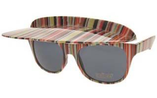 Funny glasses colored-stripes with awning