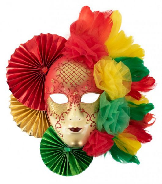 Decoration mask red yellow green