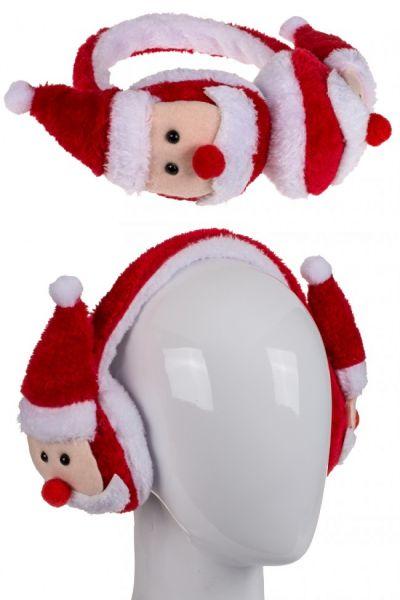Earmuffs with Santa Clauses