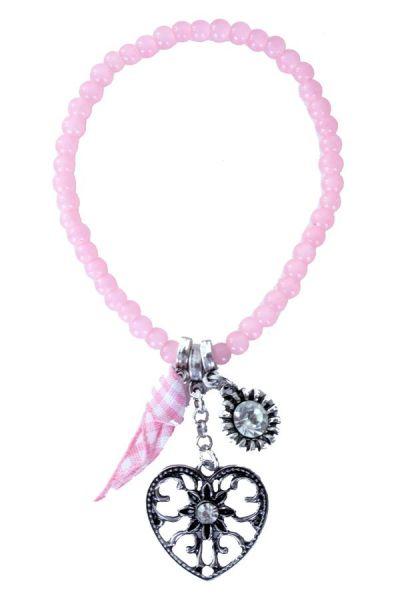 Oktoberfest Dirndl bracelet beads pink