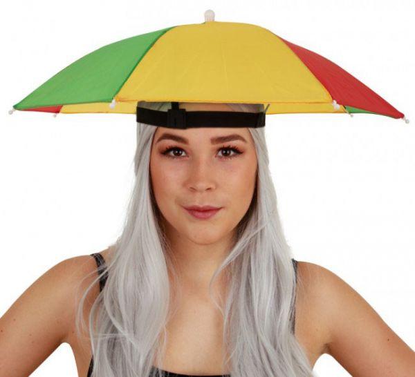 Head umbrella red yellow green