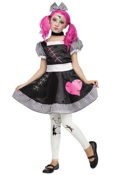 Broken porcelain doll dress girl