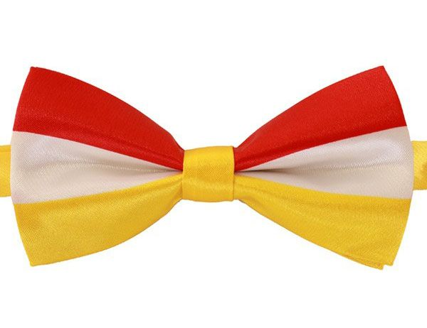 Luxury bow tie red white yellow