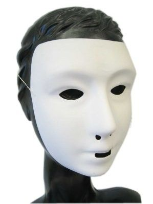 Mystery mask white with lime coating