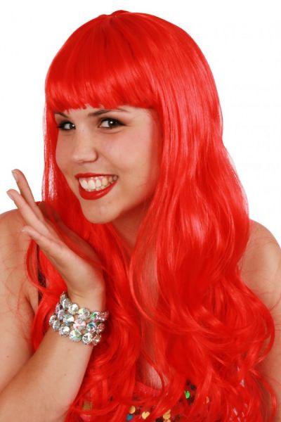 Ladies wig long style hair red sensation