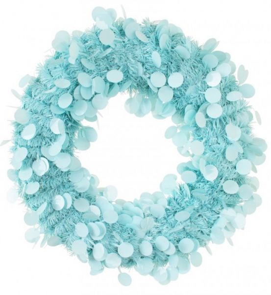 Door wreath 45 cm Blue
