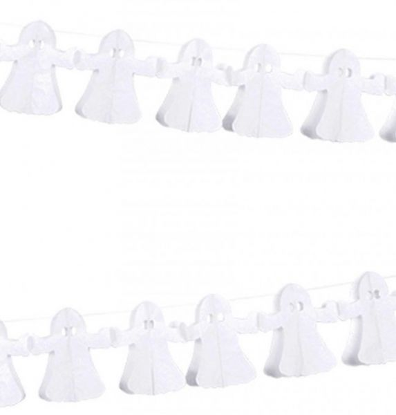Garland with 12 fabric ghosts