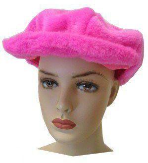 Plush pink cap