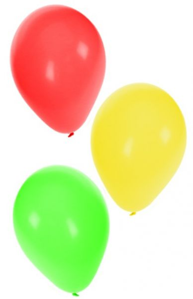Balloons red yellow green