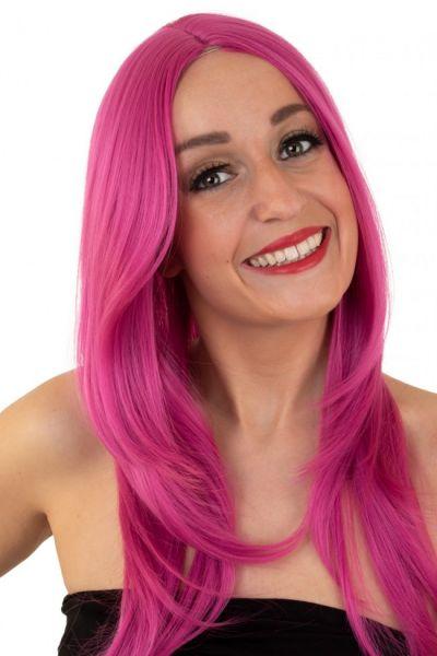 Ladies wig pink washable