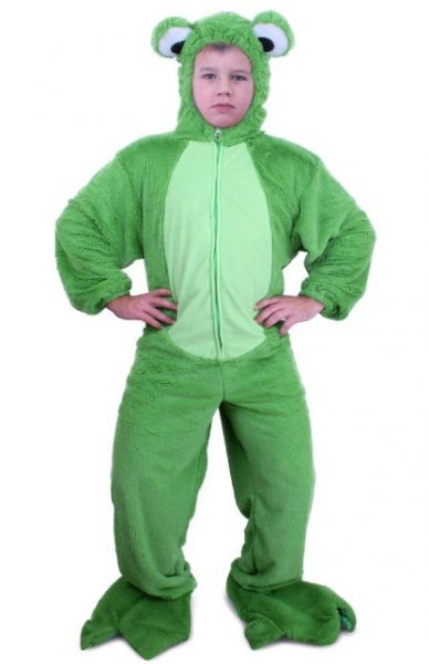 Green frog costume plush child
