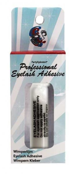 Eyelash glue white in glass bottle