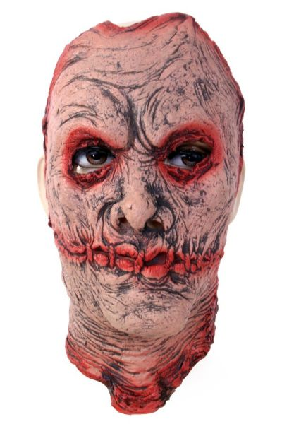 Zombie mask face with scars