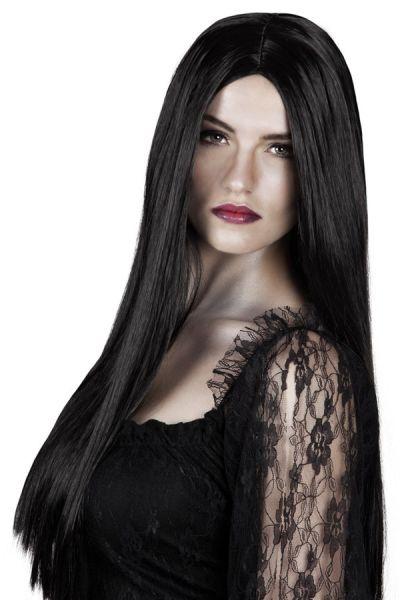 Wig long black without ponny