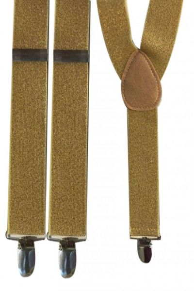 Suspenders lurex gold