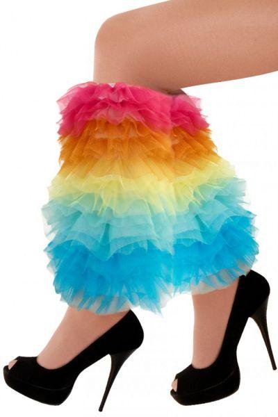 Leg warmers bright color ruffles