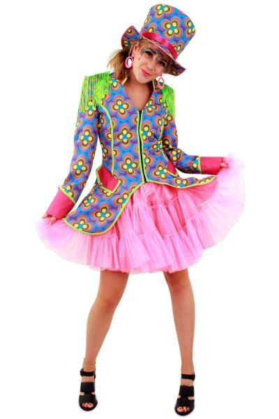 Colorful Flower Power ladies jacket