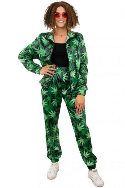 Tracksuit Cannabis leaf print Ladies