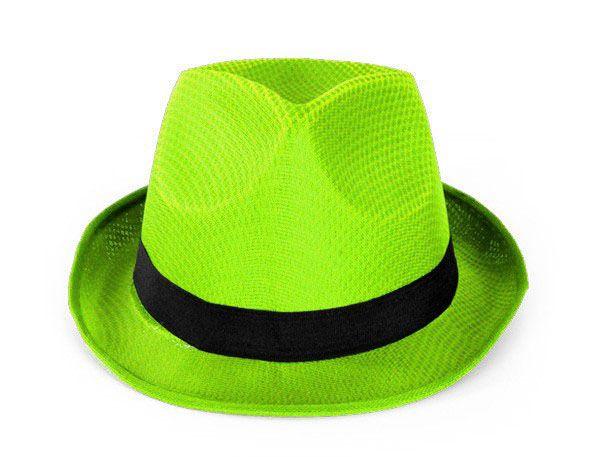 Mafia dent hat neon green
