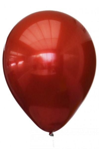 Red titanium chrome balloons