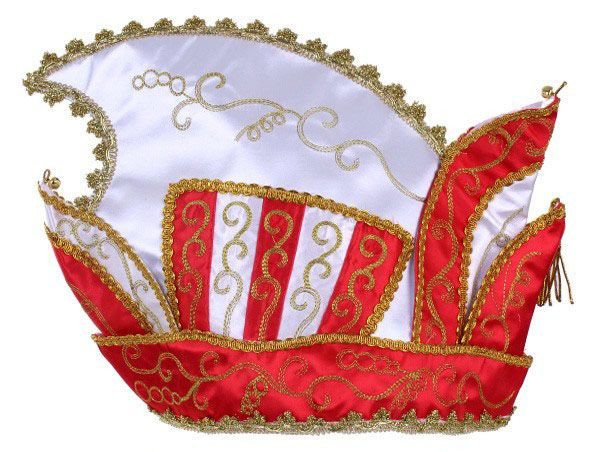 Princes hat red white gold galon
