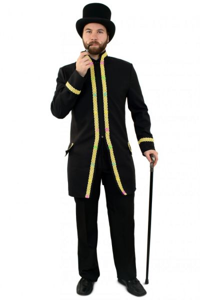 Men jacket with lighting with gold piping