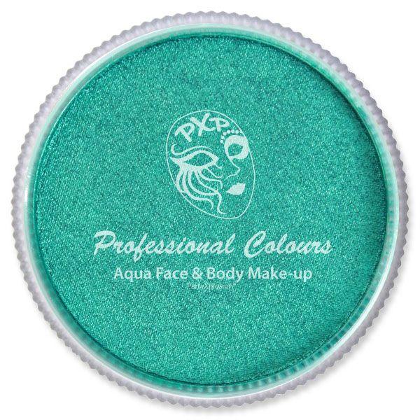 PXP Aqua metallic green face paint PartyXplosion