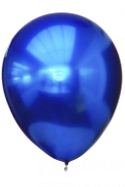Blue titanium chrome balloons