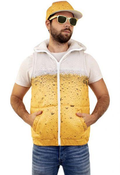 Body warmer beer print
