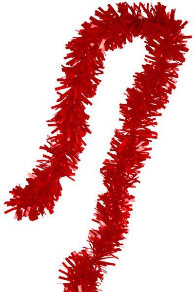 Foil twist garland red