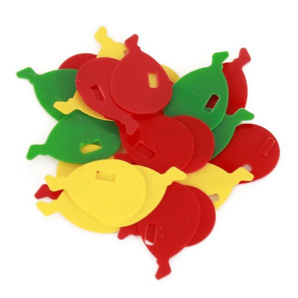 Confetti Balloons 6 mm red yellow green