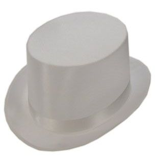 High hat satin the luxury white